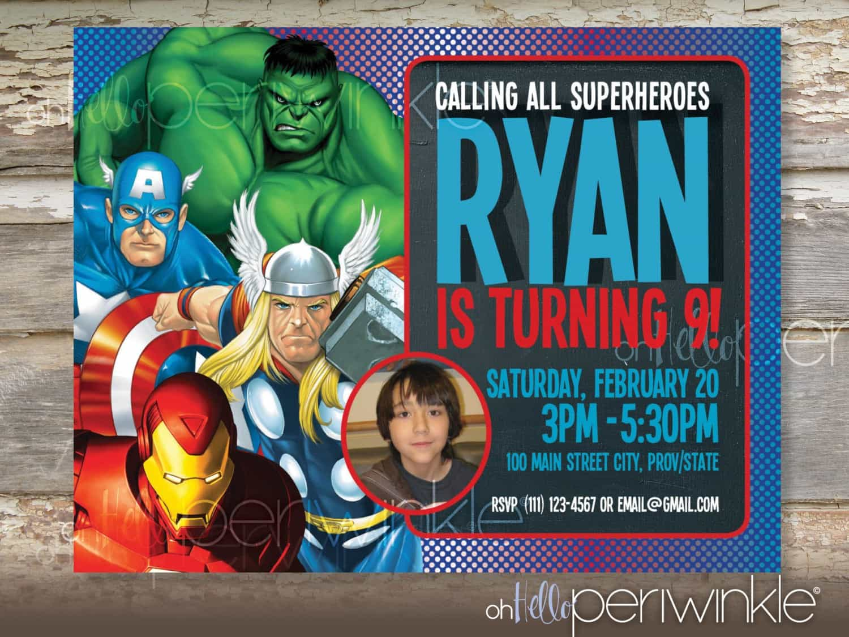 Tips For Choosing Fresh Avengers Birthday Invitations Birthday