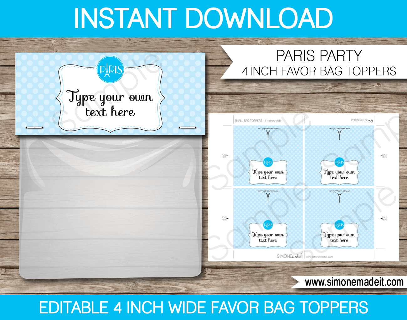 Bag Tools Images: Bag Topper Template