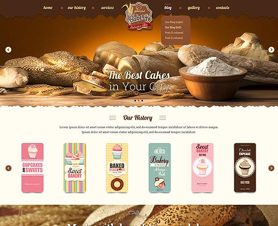 Bakery website template | Gridgum