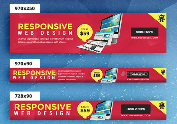 6 promotional banner ad design template background DEOCI.