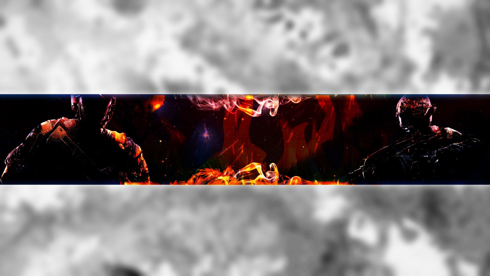 Ken Kaneki Youtube Banner Template (No Text) by SirCutieZuki on
