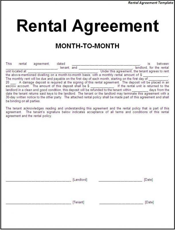 Basic Rental Agreement Fillable Fill Online, Printable, Fillable