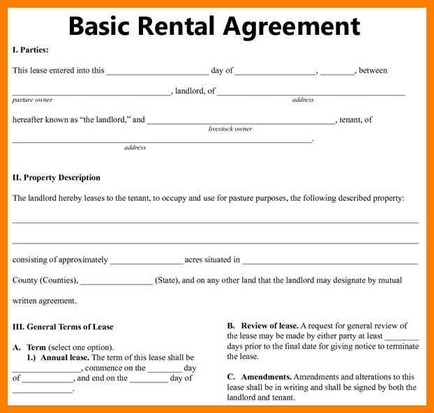 Basic Rental Agreement Fillable Basic Room Rental Agreement : vlashed
