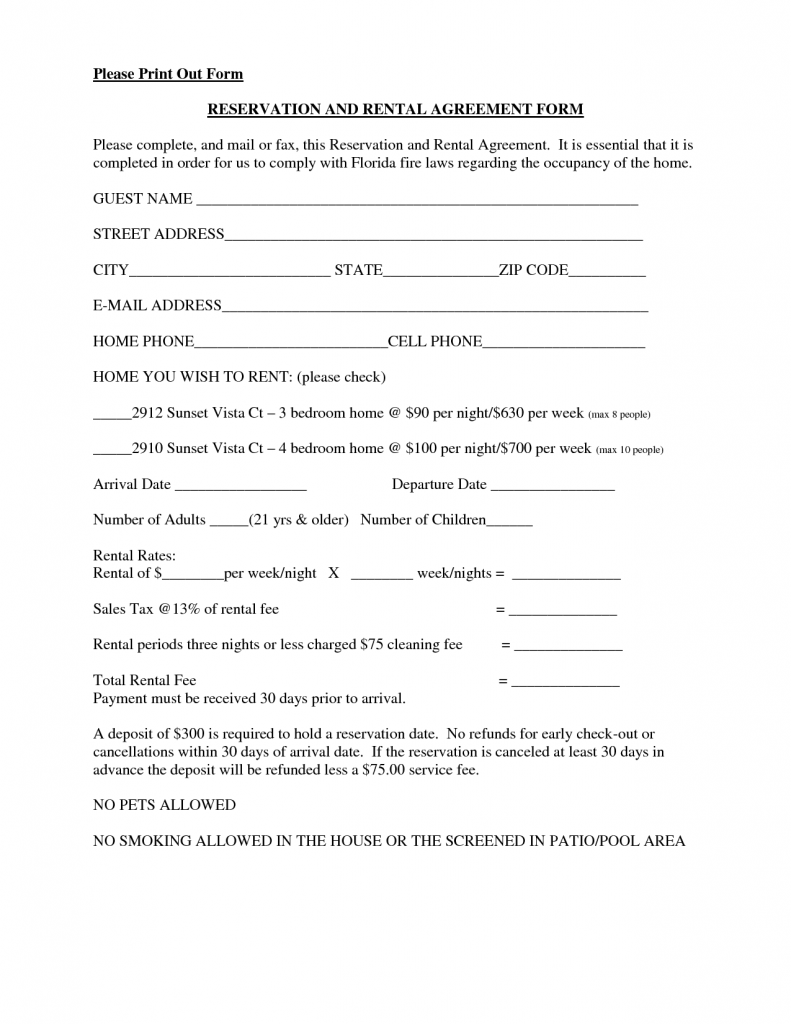fillable rental agreement template basic rental agreement fillable