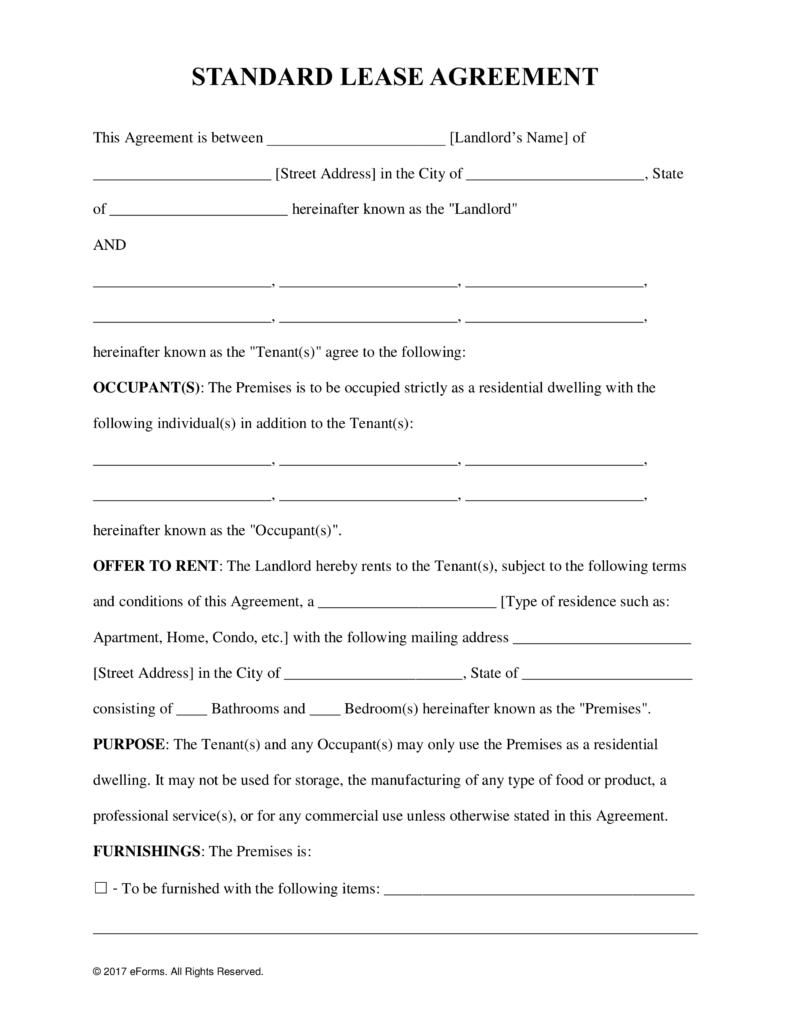 lease agreement template editable 13 basic lease form artresumed
