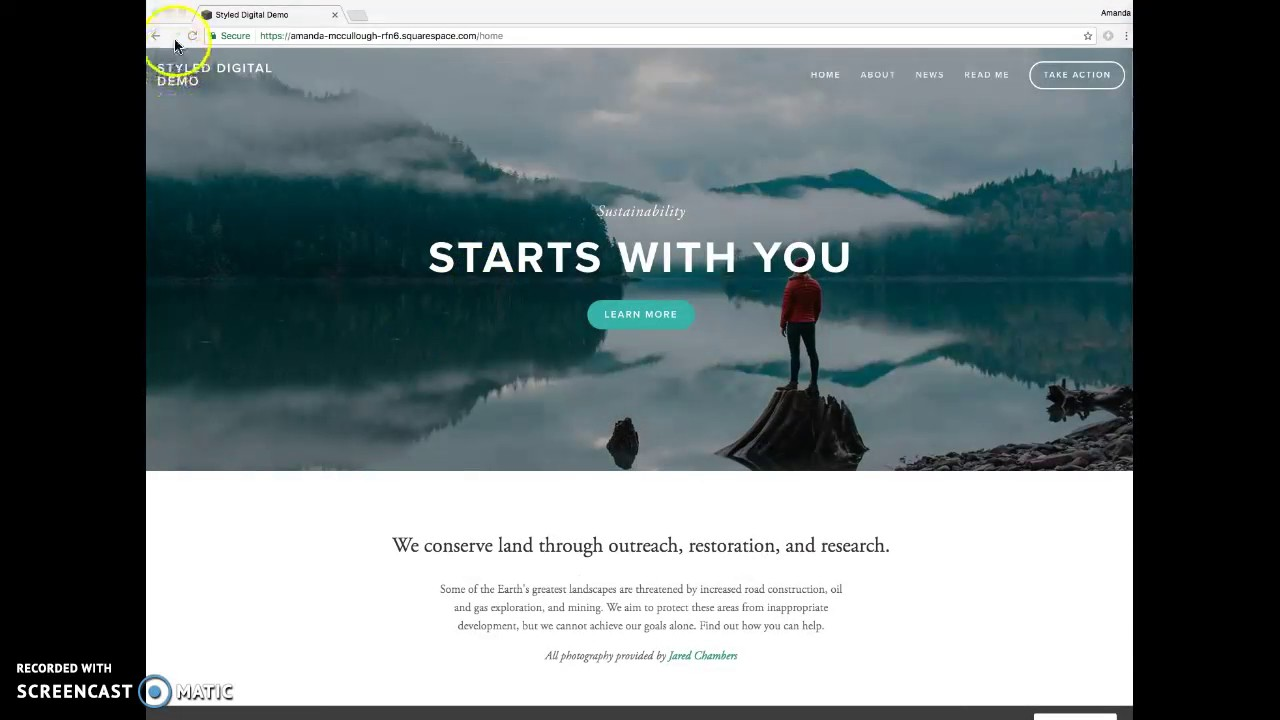 Using the Bedford template – Squarespace Help