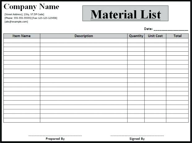 Take Control of Your Inventory with Bill of Materials Template