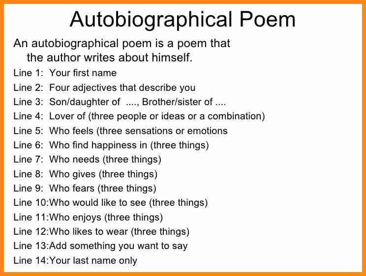 5+ Bio Poem About Yourself | Model Resumed pertaining to Bio Poem