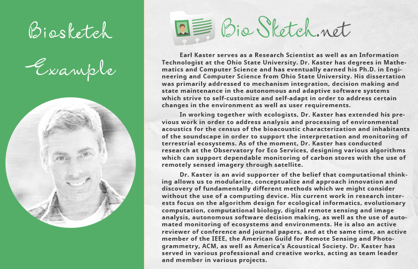 Biosketch Template That You Should Use | Bio Sketch