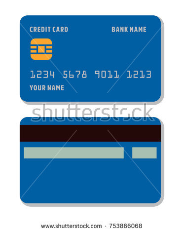 Blank Credit Card Template Flat Style Stock Vector (Royalty Free