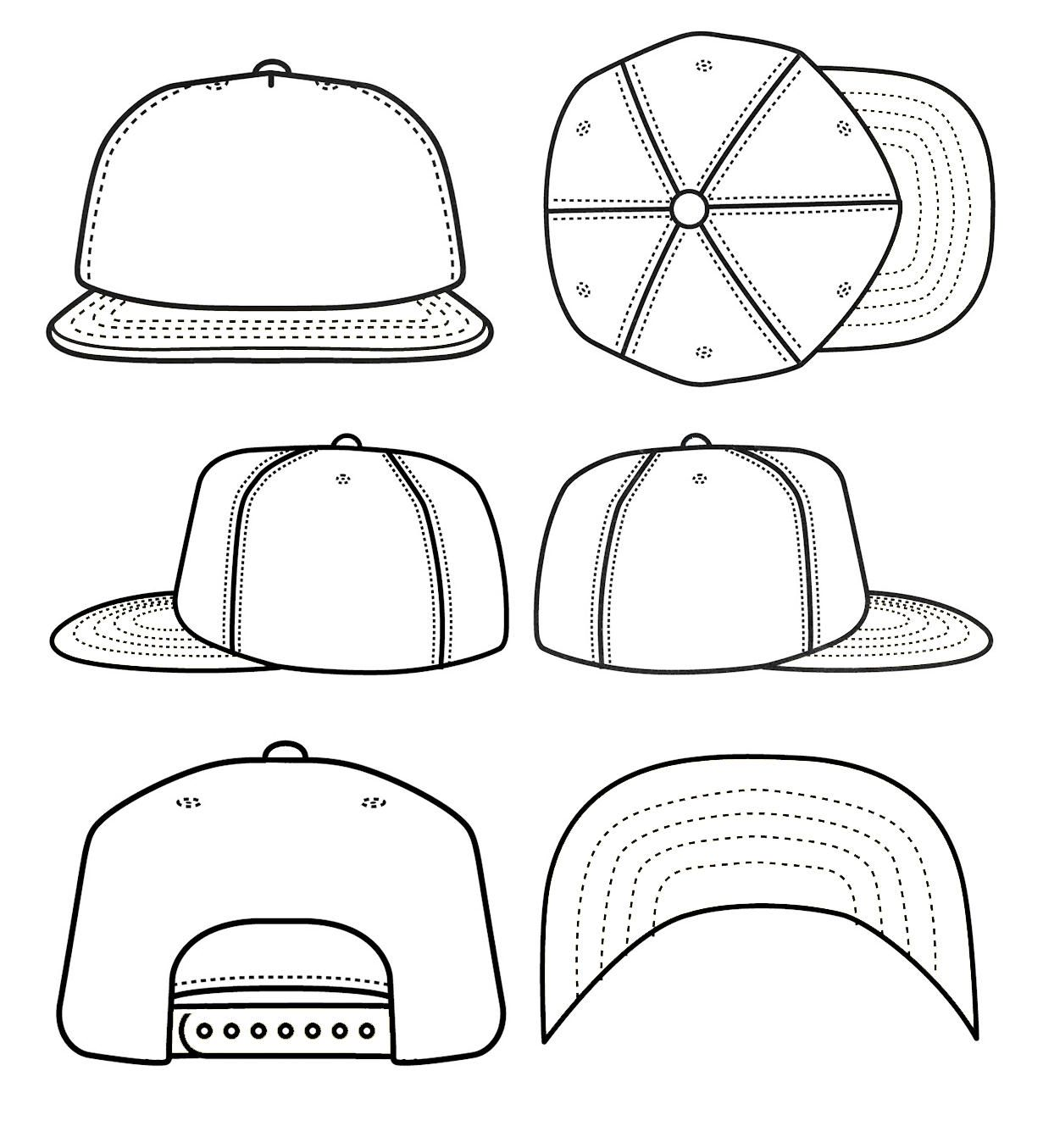 White Baseball Cap Mock Blank Hat Template Isolated White