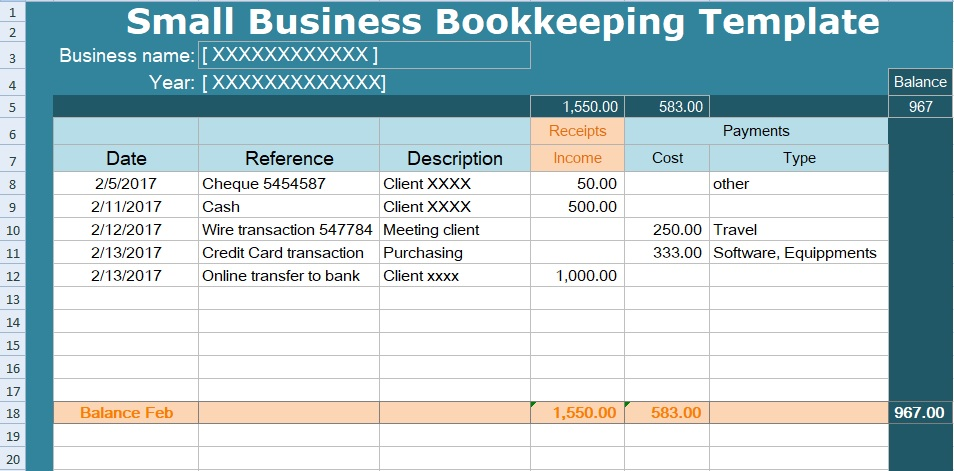 If you are looking for a simple Small Business Bookkeeping