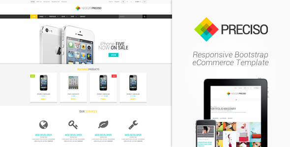 Bootstrap ecommerce template download