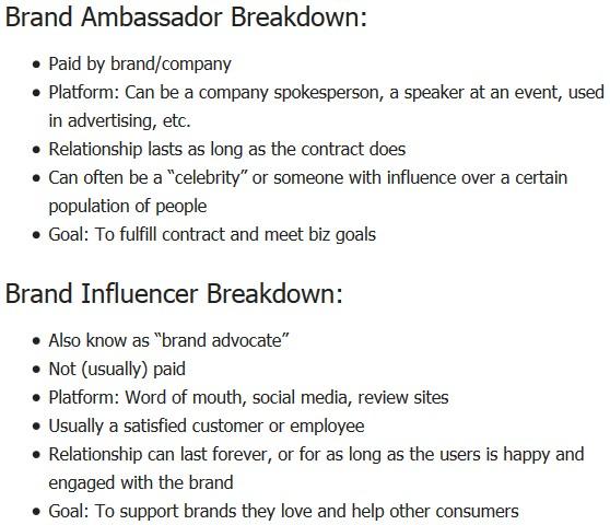 social media influencer agreement template brand ambassador