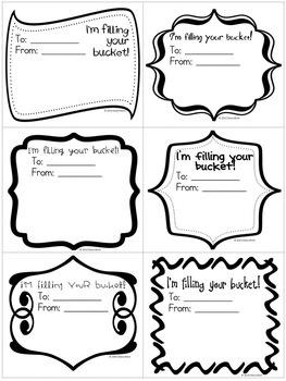 FREE Bucket Fillers by MrsBrien | Teachers Pay Teachers