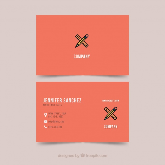 Business card template illustrator Vector | Free Download