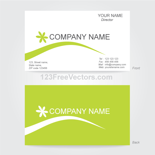 Free Business Card Template Illustrator PSD files, vectors