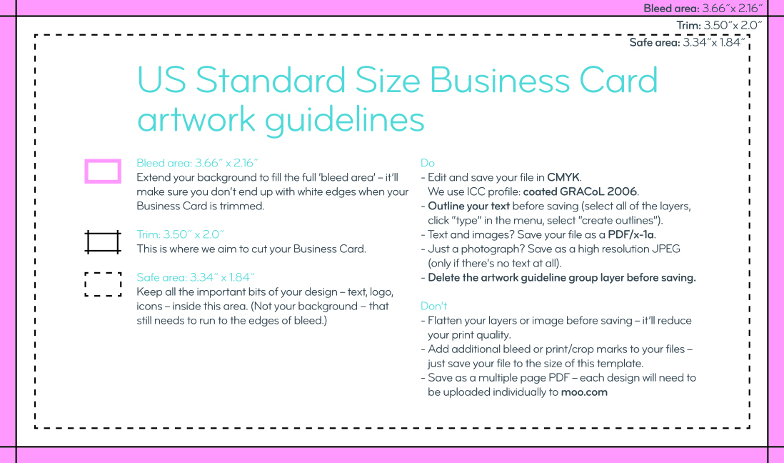 Standard Size Business Cards | Order Online | MOO