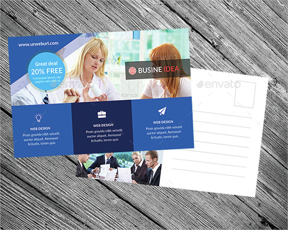 free template for business postcards business postcard template 20