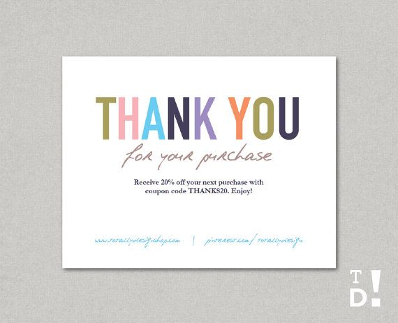 business thank you card best 25 business thank you cards ideas on