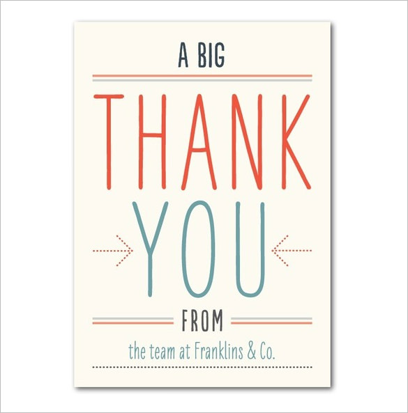 17+ Business Thank You Cards Free Printable PSD, EPS Format