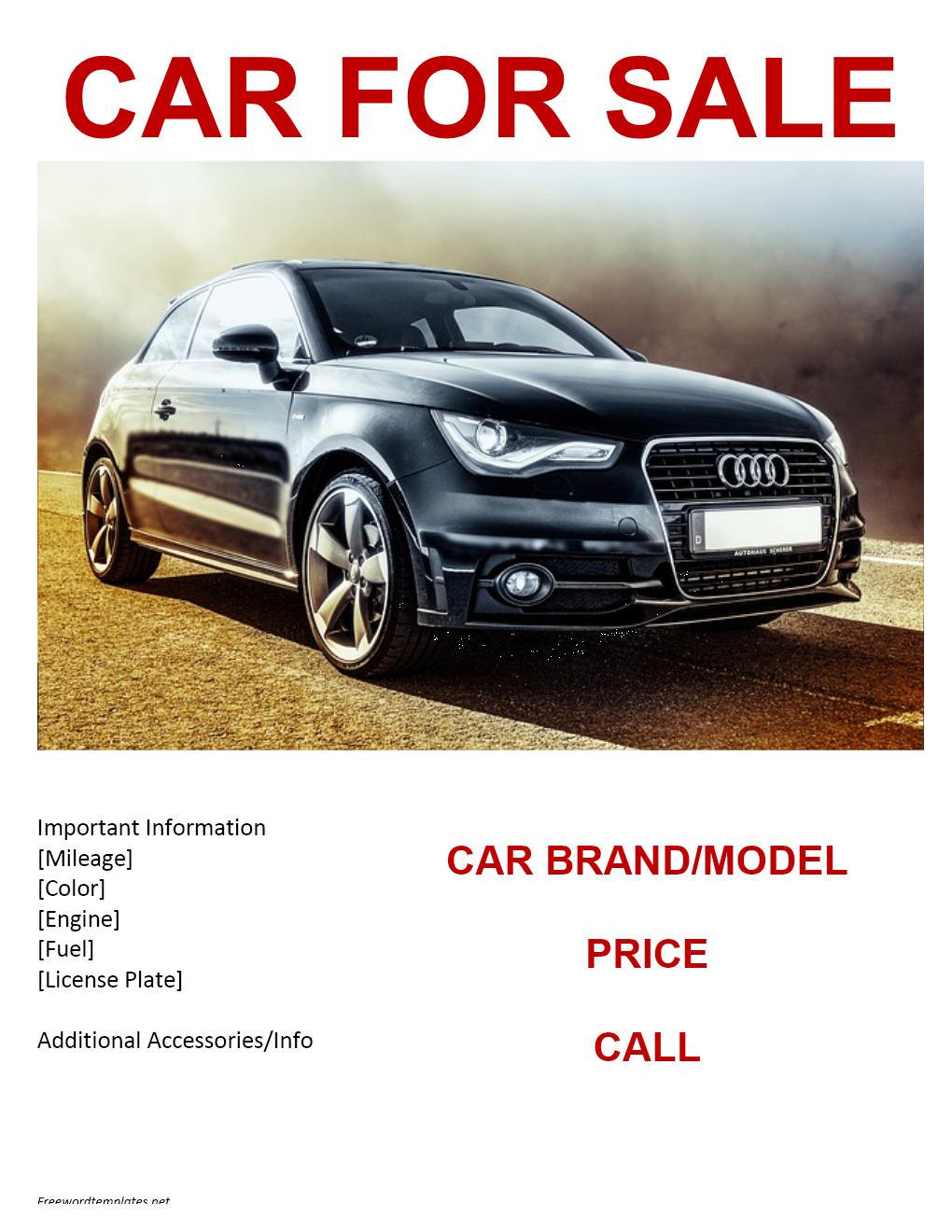 car sale flyer template free