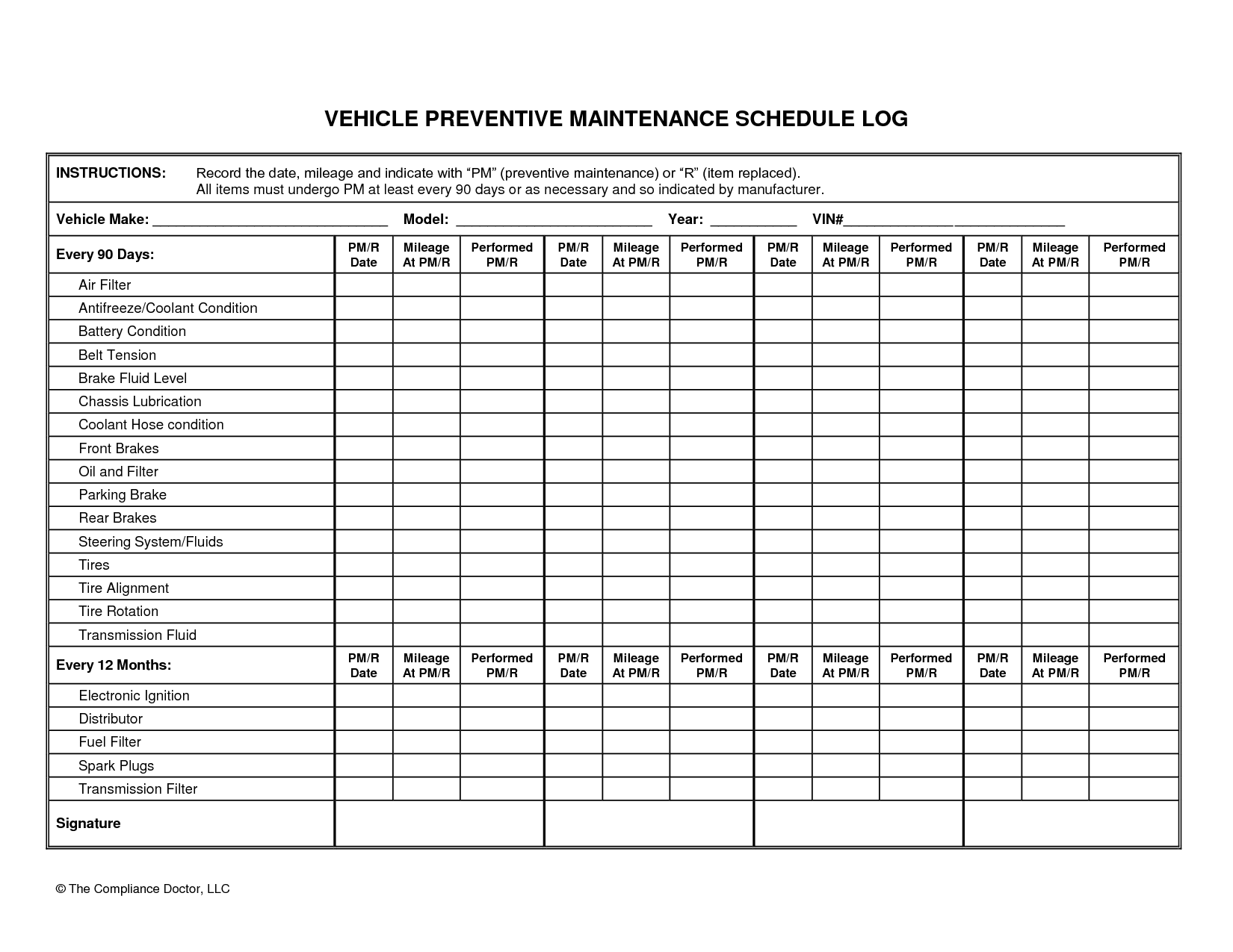 vehicle schedule template Melo.in tandem.co