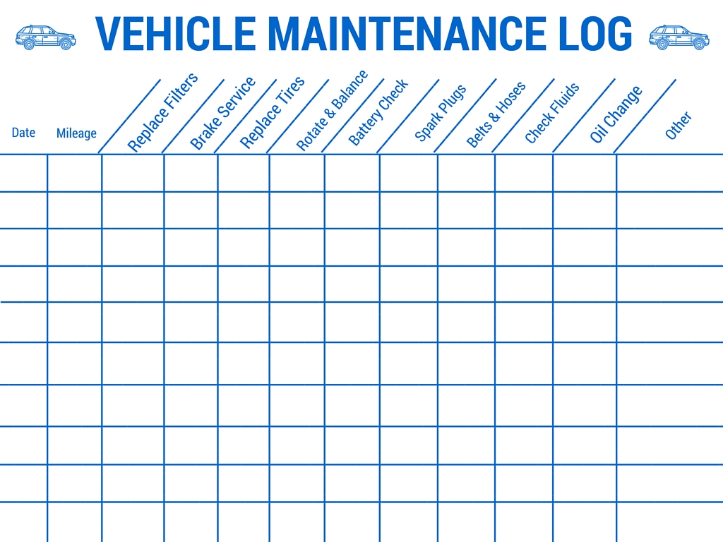 auto maintenance schedule template Melo.in tandem.co