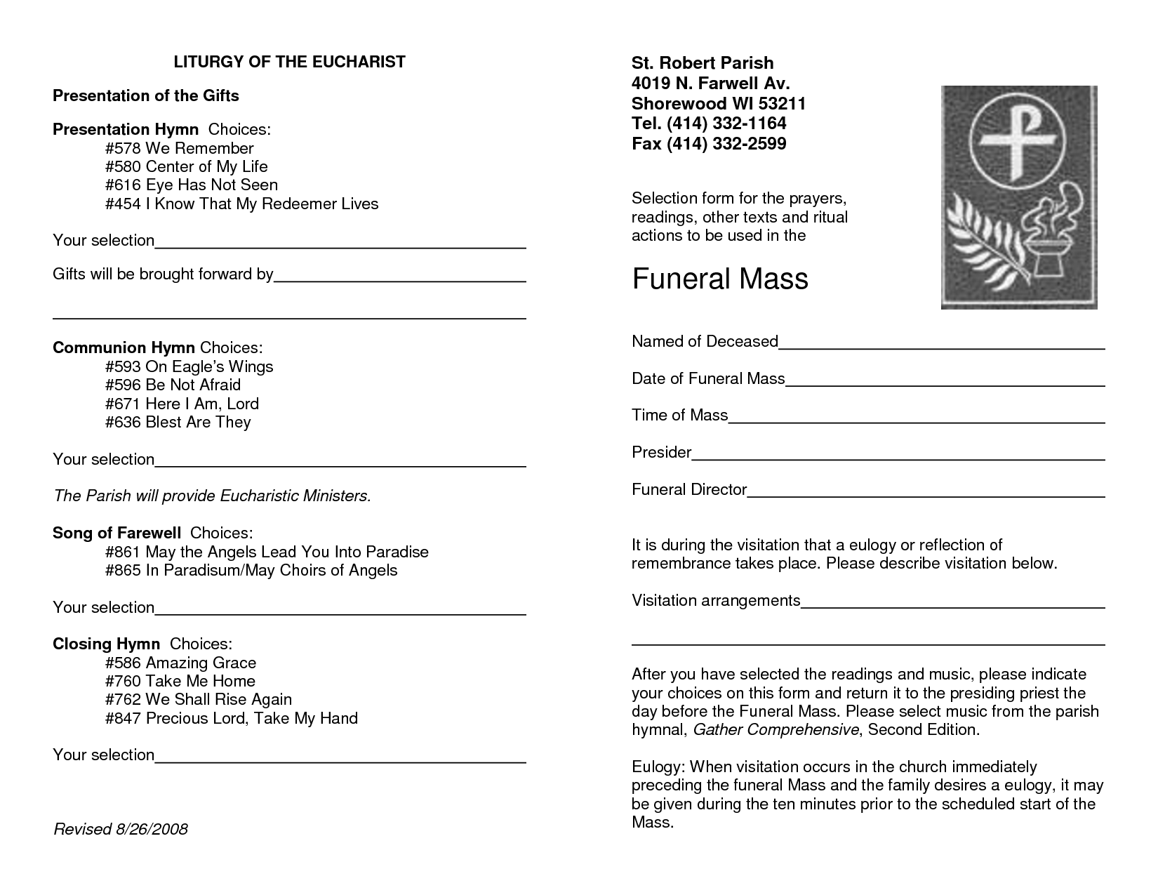 catholic funeral program Melo.in tandem.co