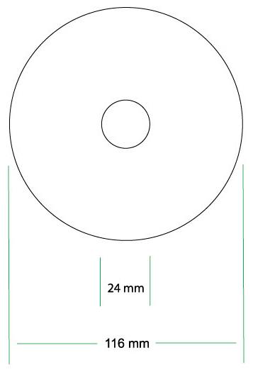 Maximum Printing Area CD Label Design Template