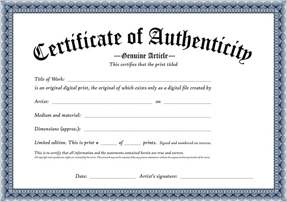 certificate of authenticity template certificates of authenticity