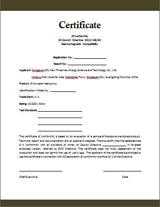 Certificate Of Compliance Template http://.valery novoselsky