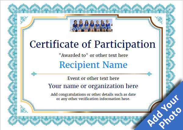 certificate of participation templates participation certificate