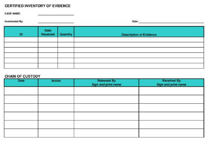 Sample Of Chain Of Custody Form Fill Online, Printable, Fillable