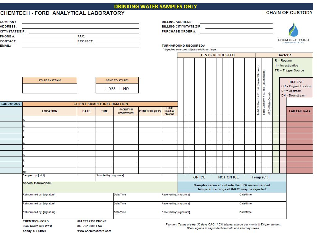 DWCOC Magnificent Chain Of Custody Form Template | melanoma2010.com