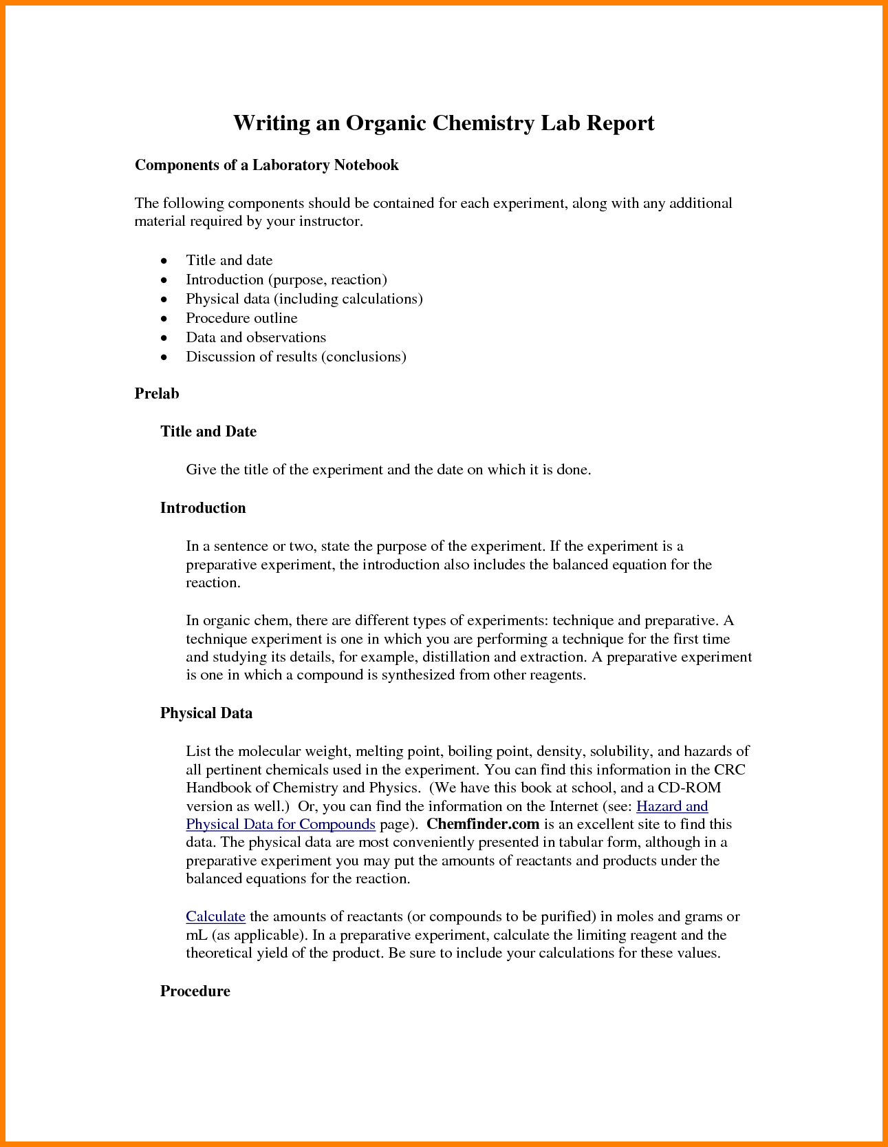 chemistry lab report template Melo.in tandem.co