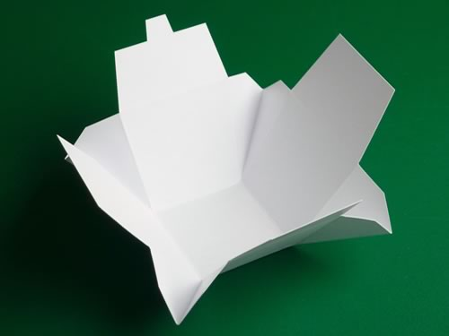 Chinese Take Out Box template now if you don't cut the corners