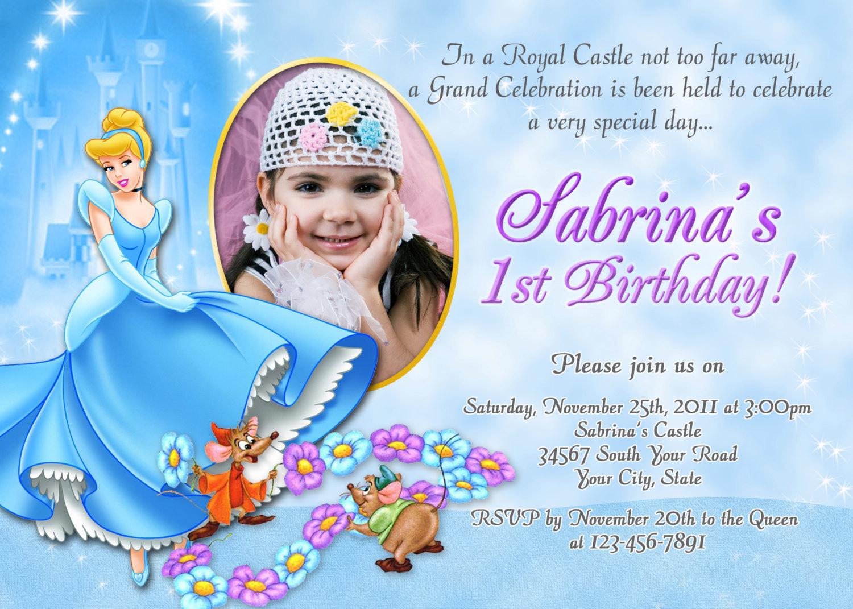 Cinderella Birthday Invitations For Latest Invitation Card Designs
