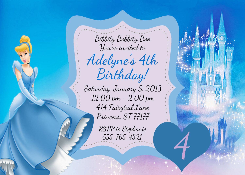 Cinderella Birthday Invitations kinderhooktap.com