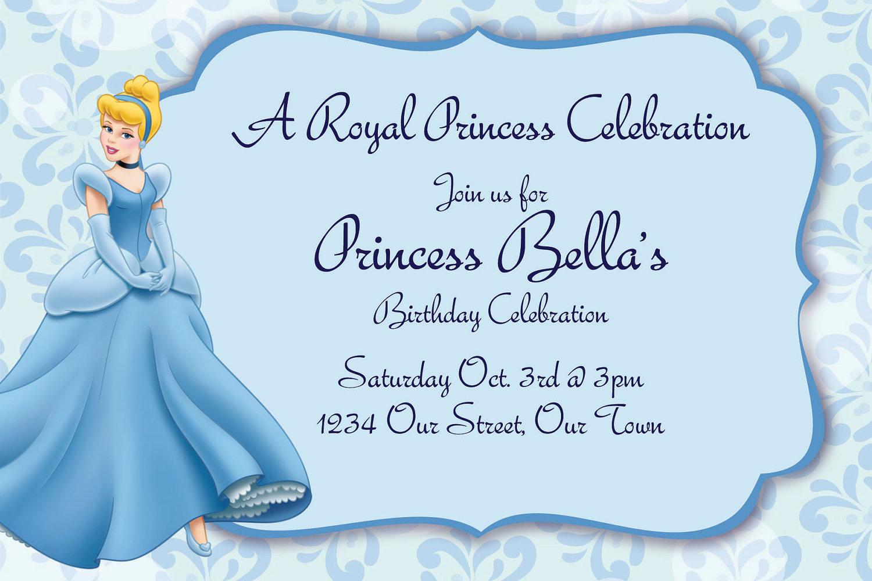 Cinderella Birthday Invitations reignnj.Com