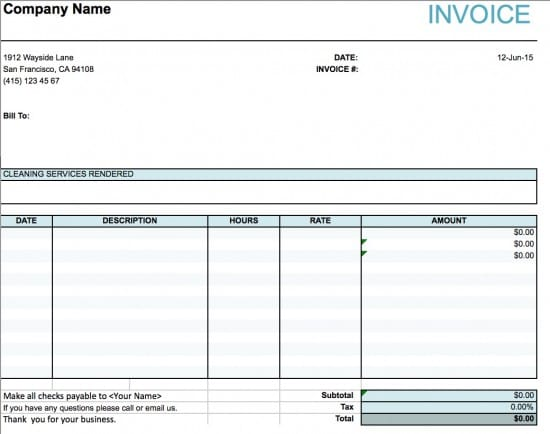 Cleaning Invoice Template 7+ Free Word, PDF Documents Download