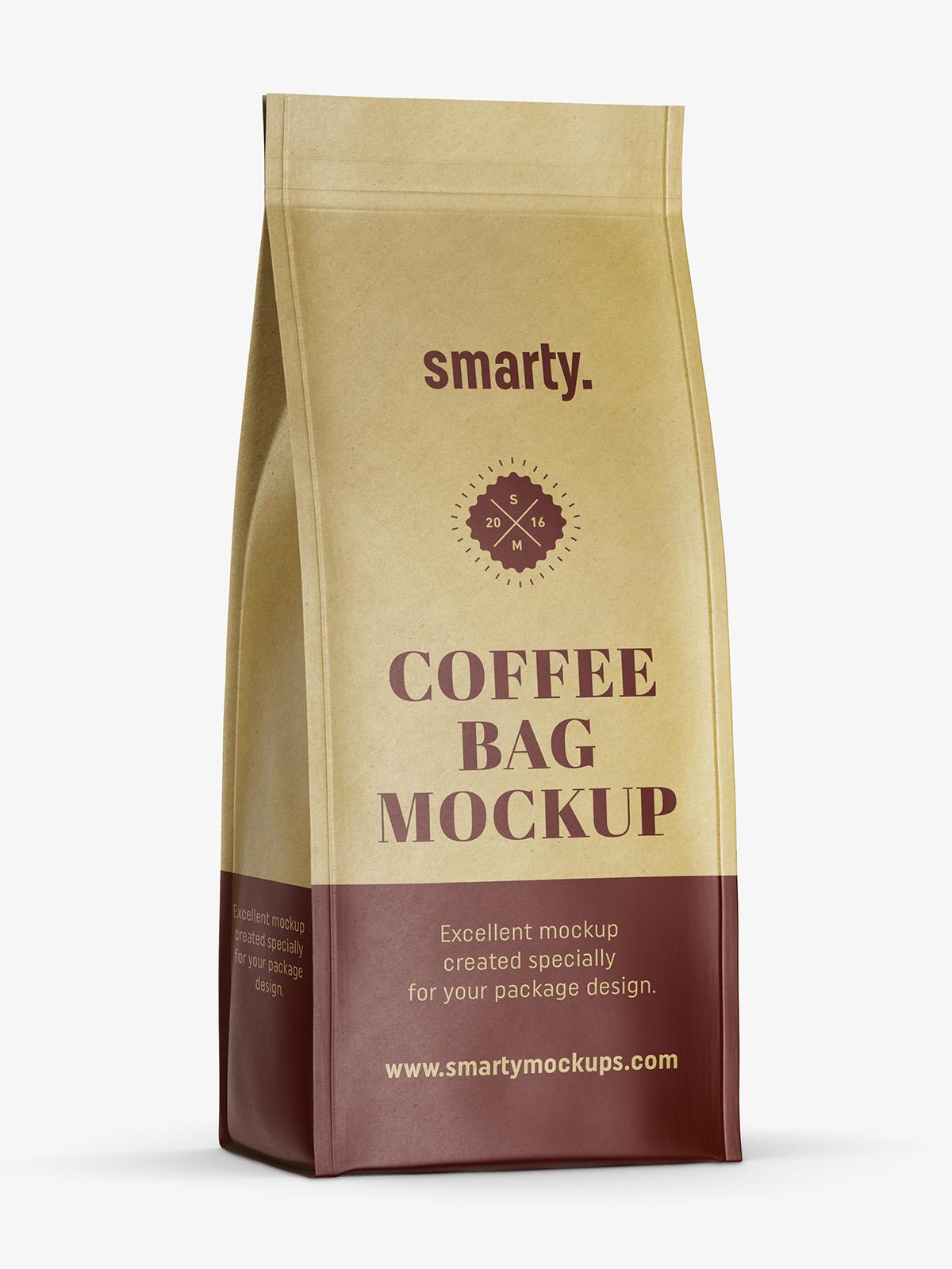 Eco paper coffee bag mockup Smarty Mockups