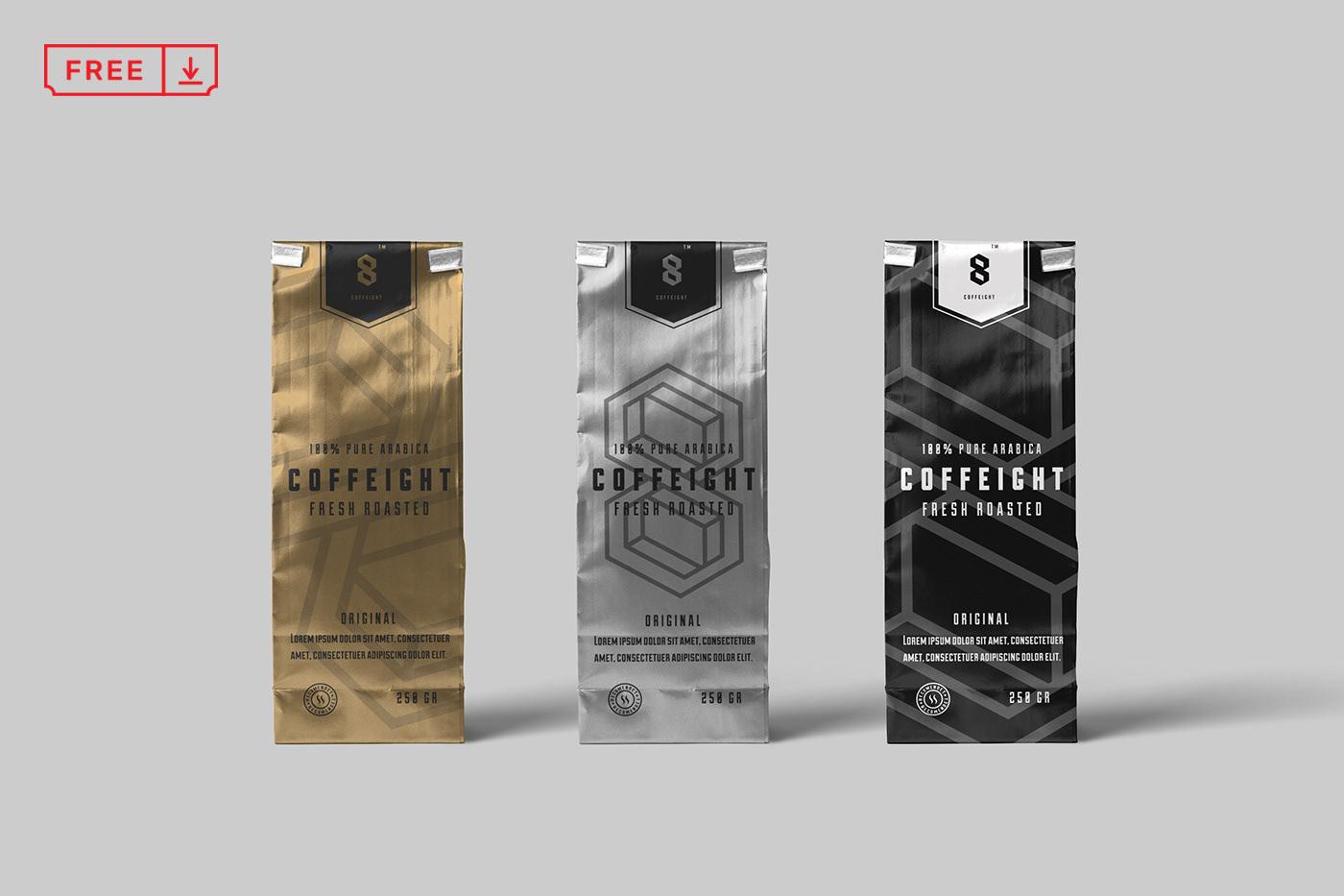 Free Coffee Bag Mockup on Behance