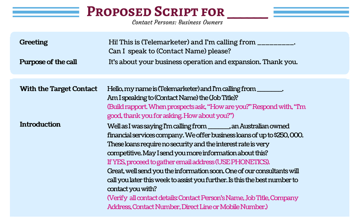 Don't Waste a Moment! See Sample Cold Calling Scripts
