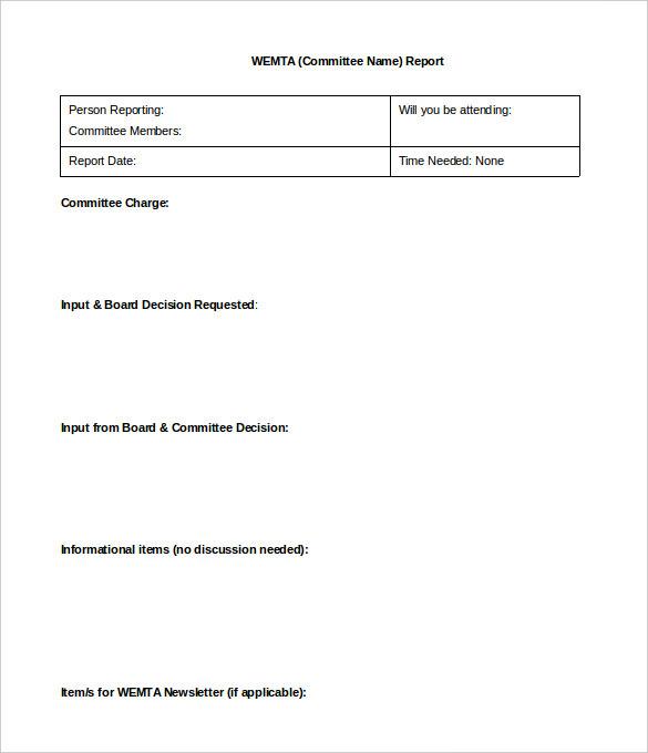 22+ Board Report Templates PDF, DOC | Free & Premium Templates