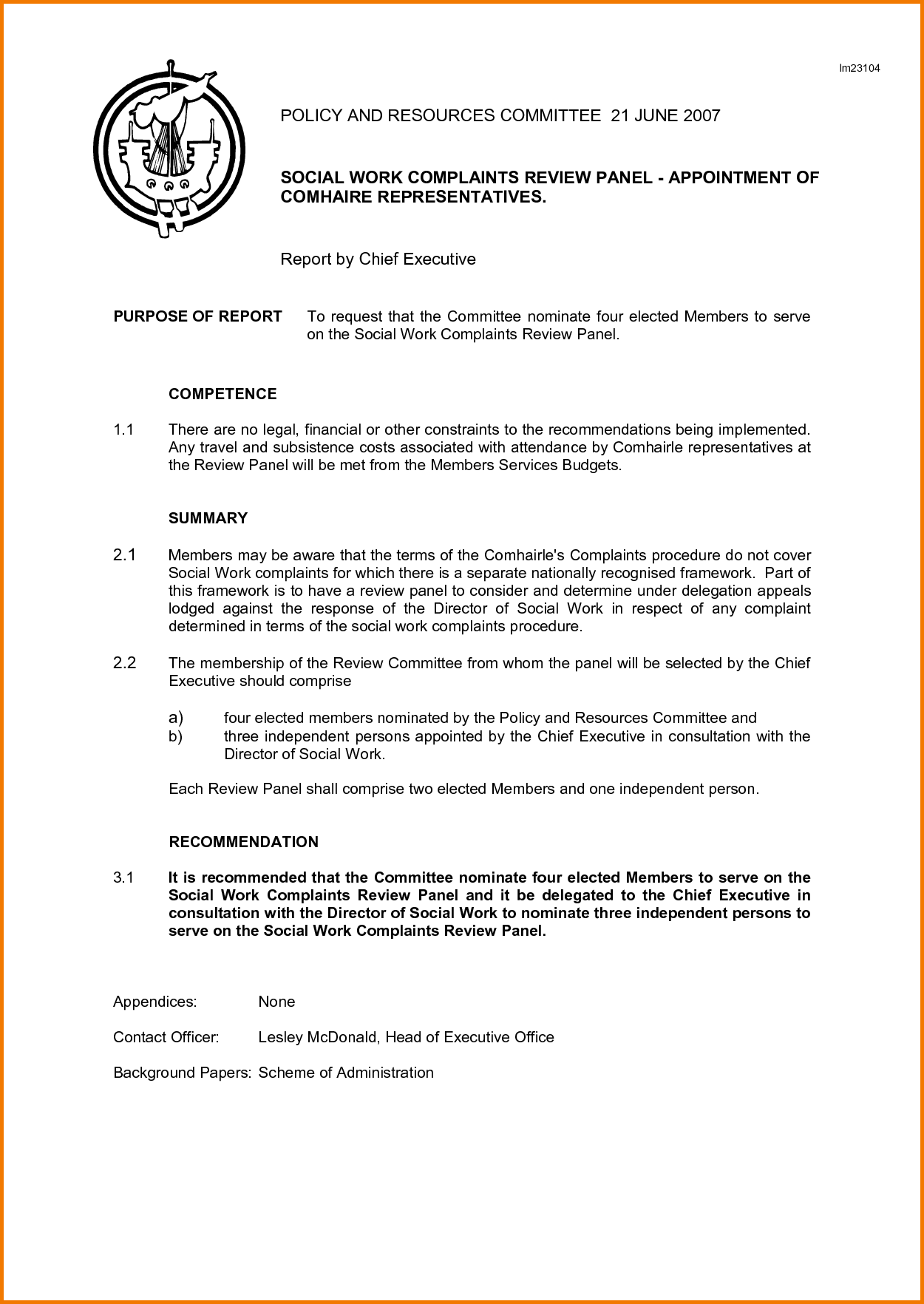 Committee Report Template | merrychristmaswishes.info