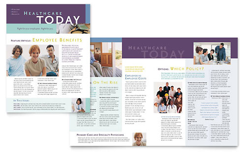 Medical Insurance Company Newsletter Template Word & Publisher