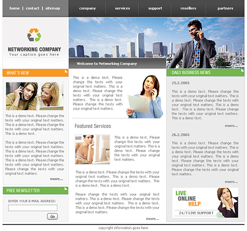 Conference Website Template 0445 Communications Website