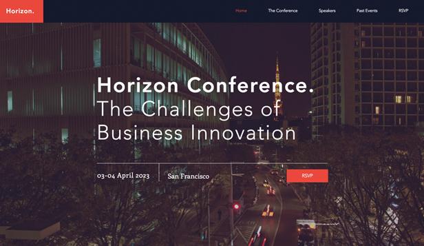 Conferences & Meetups Website Templates | Events | Wix