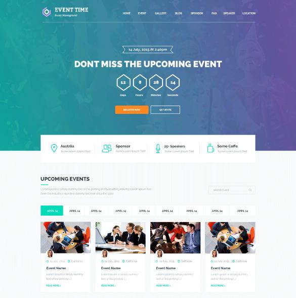 event website template Akba.katadhin.co